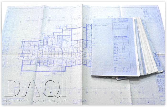 工程图打印复印 建筑晒图 图文扫描复印 大旗快印,上海24小时商务